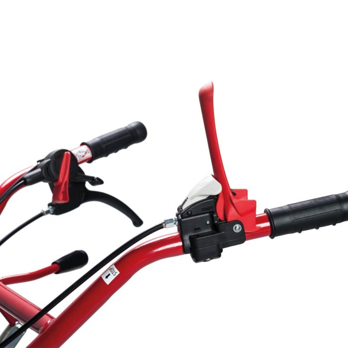 Clutch, gears and reverse speed levers